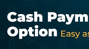 Cash Payment Option: Easy as 1-2-3