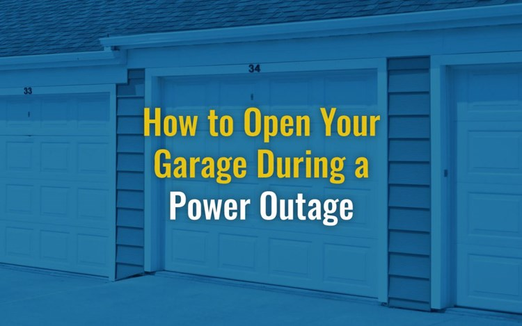 How To Open Your Garage During a Power Outage