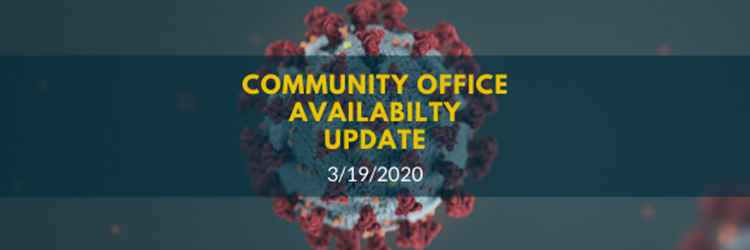 Community Office Availability Update [COVID-19]